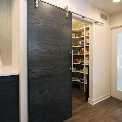 Pantry with Sliding Door